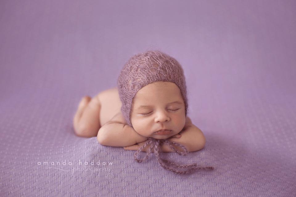 Newborn pictures victoria bc - baby mila smile