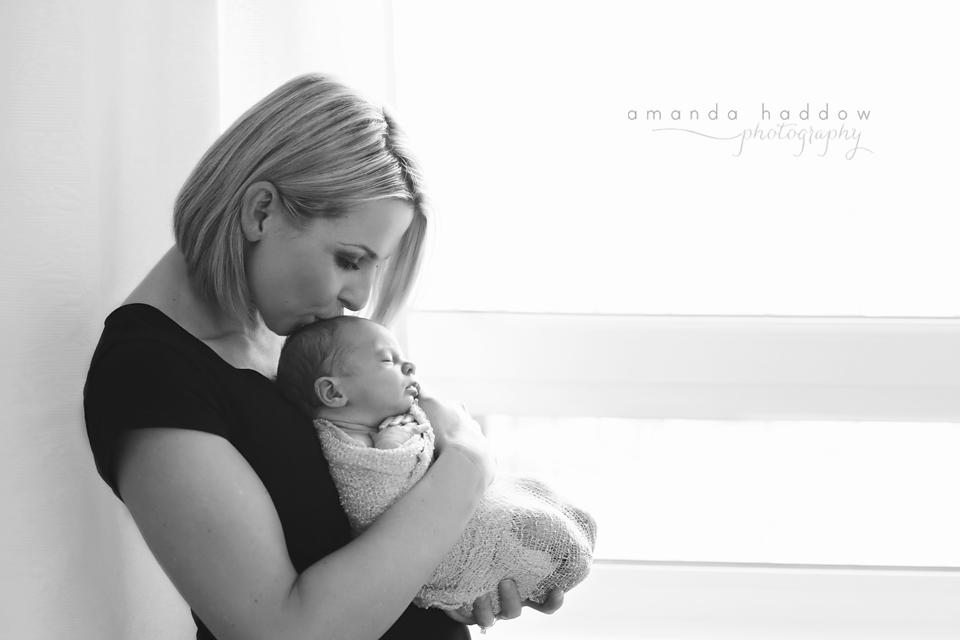 Newborn pictures victoria bc - baby mila mom